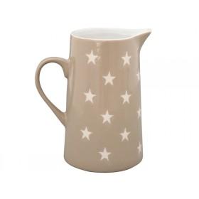 Krasilnikoff Brightest Star Jug stars taupe