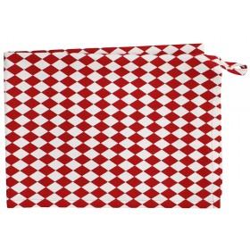 Krasilnikoff tea towel small harlekin red