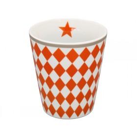 Krasilnikoff Happy Mug Harlekin orange