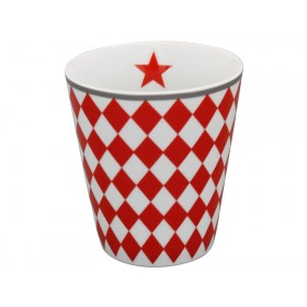 Krasilnikoff Happy Mug Harlekin red