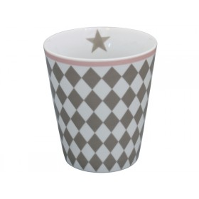 Krasilnikoff Happy Mug Harlekin taupe