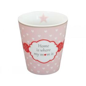 Krasilnikoff Happy Mug Home is where my mom is