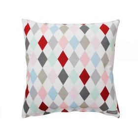Krasilnikoff cushion cover big harlekin multicolour
