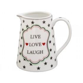 Krasilnikoff creamer Live Love Laugh