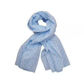 Krasilnikoff scarf blue with retro flowers