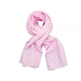Krasilnikoff scarf pink with retro flowers