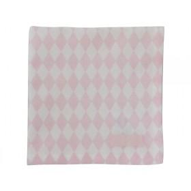 Krasilnikoff napkin harlekin pink