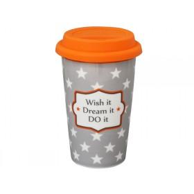 Krasilnikoff travel mug Wish it, Dream it