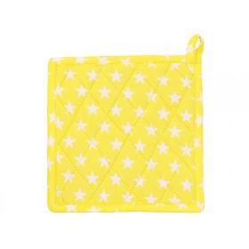 Krasilnikoff pot holder star yellow