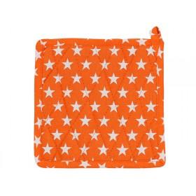 Krasilnikoff pot holder star orange