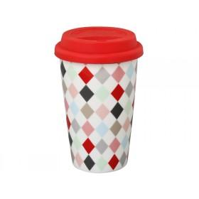 Krasilnikoff travel mug Harlekin multicolour