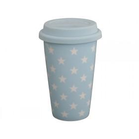Krasilnikoff Travel Mug stars blue