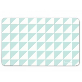 krima & isa breakfast plate triangles turquoise