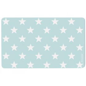 Breakfast plate in turquoise with stars by krima & isa