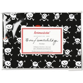 krima & isa envelope set PIRATES black white