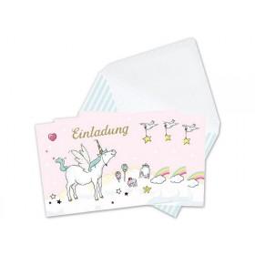 krima & isa invitation postcard set Unicorn