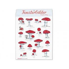krima & isa window sticker fly agaric