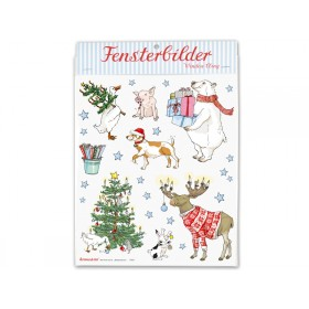 krima & isa window sticker christmas animals