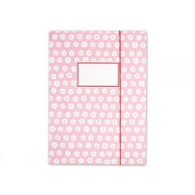 Folder map in pink with white flowers