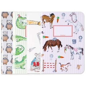 krima & isa notebook with animals