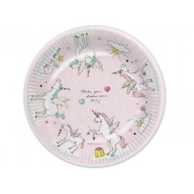 krima & isa paper plates Unicorn