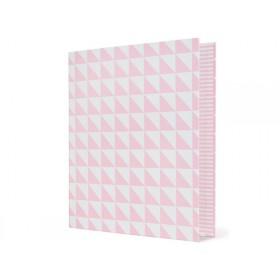 krima & isa ring binder triangles pink