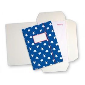 Dark blue folder map with stars