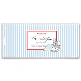 krima & isa separator card striped blue