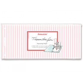 krima & isa separator card striped pink