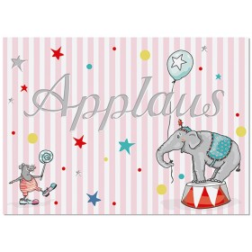 "krima & isa postcard CIRCUS ""Applaus"""