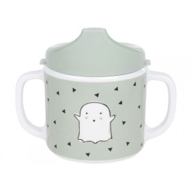 Lässig Melamine baby spout cup LITTLE SPOOKIES olive