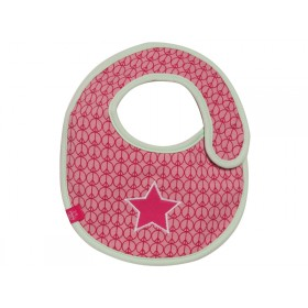 Bib with star in magenta by Lässig