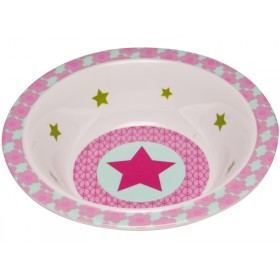 Melamine bowl with star in magenta by Lässig