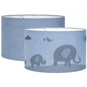 Little Dutch Hanging Lamp Silhouette ZOO blue