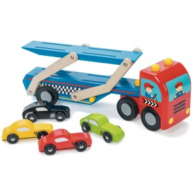 Le Toy Van car transporter set