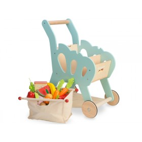 Le Toy Van Shopping Trolley (with detachable fabric bag)