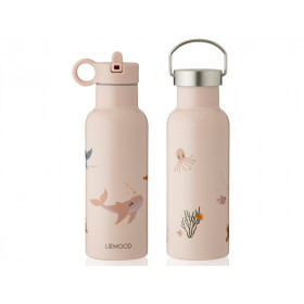 LIEWOOD Water Bottle Neo SEA CREATURE rose mix