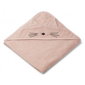 LIEWOOD Hooded Towel AUGUSTA Cat rose