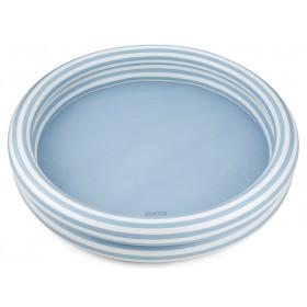 LIEWOOD Pool SAVANNAH Stripe: Sea blue/creme de la creme
