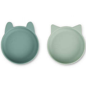 LIEWOOD 2 Silicone Bowls VANESSA Mint Mix