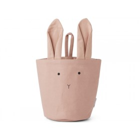 LIEWOOD Fabric Basket Ib BUNNY old rose