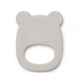 LIEWOOD Silicone Teether Gemma BEAR grey