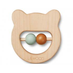 LIEWOOD Wood Rattle-Teether Ivalu BEAR