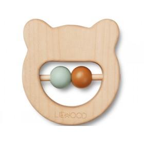 LIEWOOD Wood Rattle-Teether Ivalu BEAR