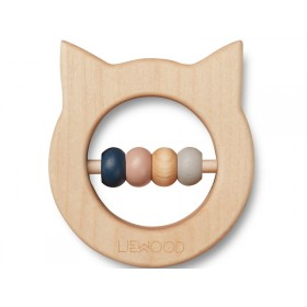 LIEWOOD Wood Rattle-Teether Ivalu CAT