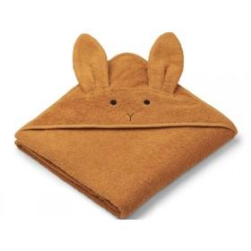 LIEWOOD Hooded Towel Augusta BUNNY mustard