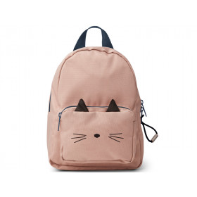 LIEWOOD Kids Mini Backpack Saxo CAT old rose 1-3