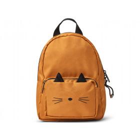 LIEWOOD Kids Mini Backpack Saxo CAT mustard 1-3