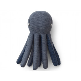 LIEWOOD Rattle Toy Ole OCTOPUS blue