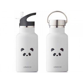 LIEWOOD Water Bottle Anker PANDA light grey